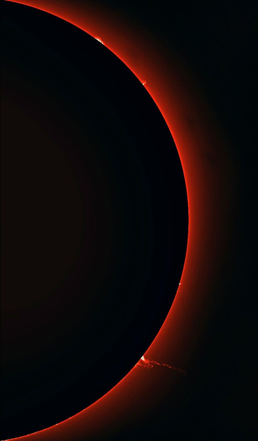 Die Sonne am 14. Juni 2018