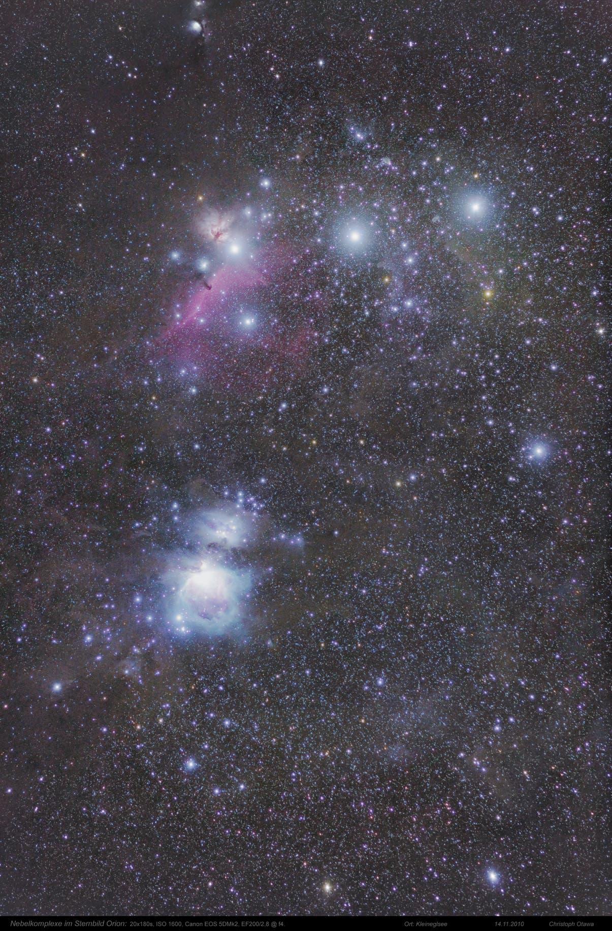 Nebelkomplexe im Orion