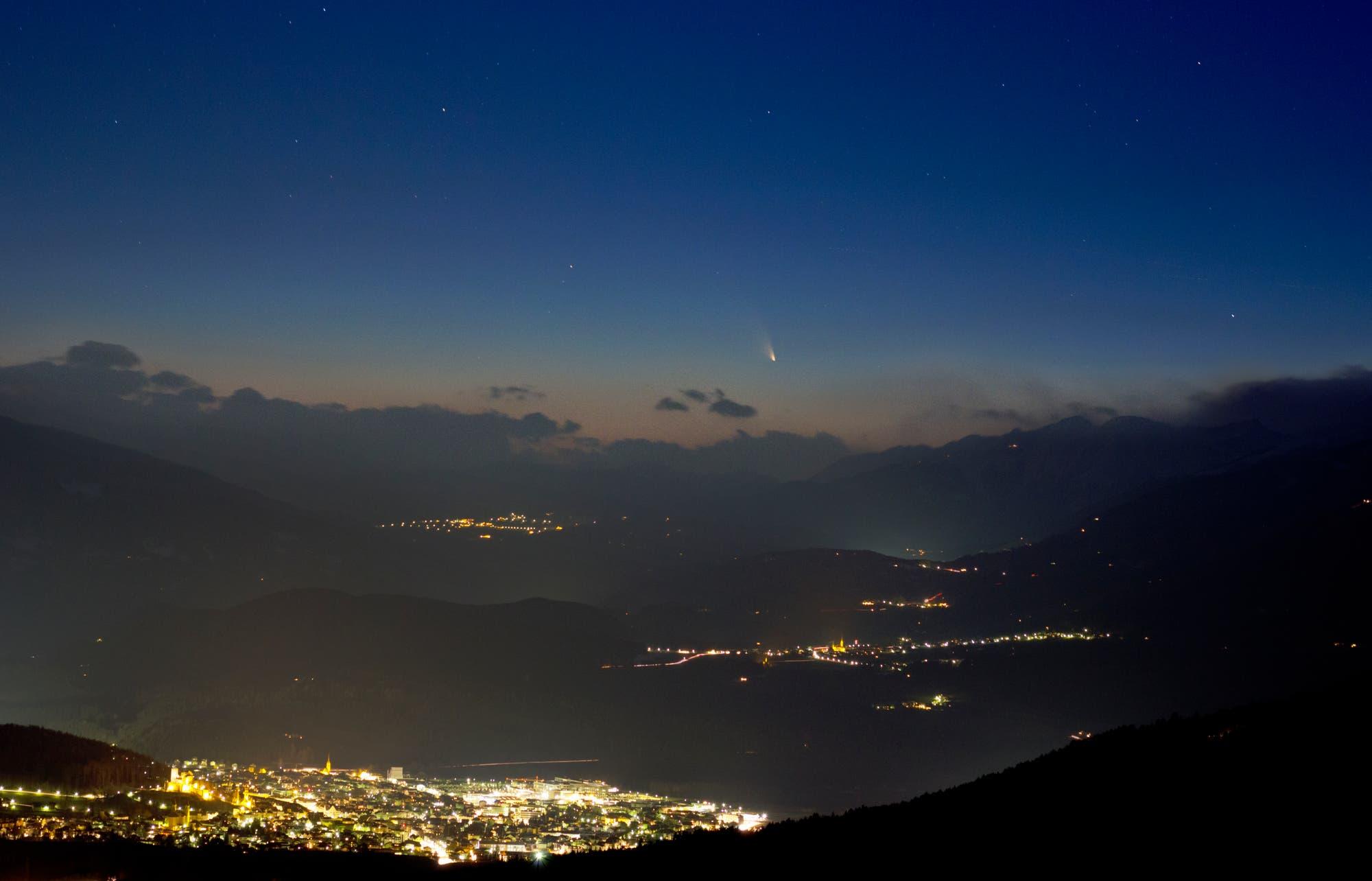 Komet PANSTARRS über Bruneck