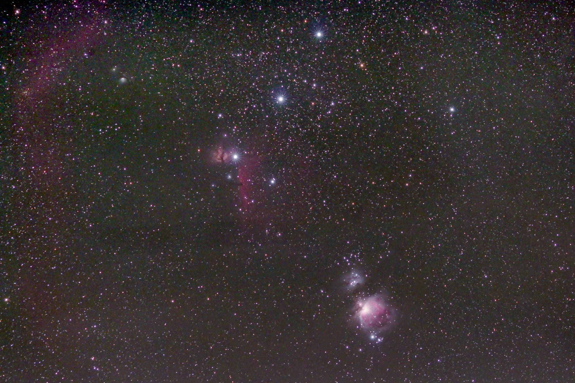 Gürtel und Schwert des Orion