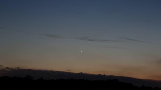Merkur bei Venus, 21. Mai 2020