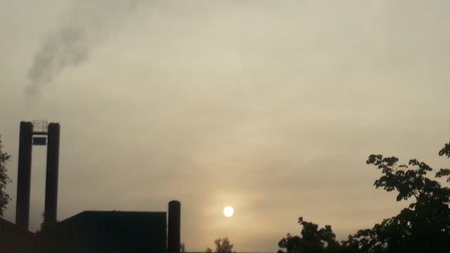 Weißer Sonnenaufgang im BBW Südhessen