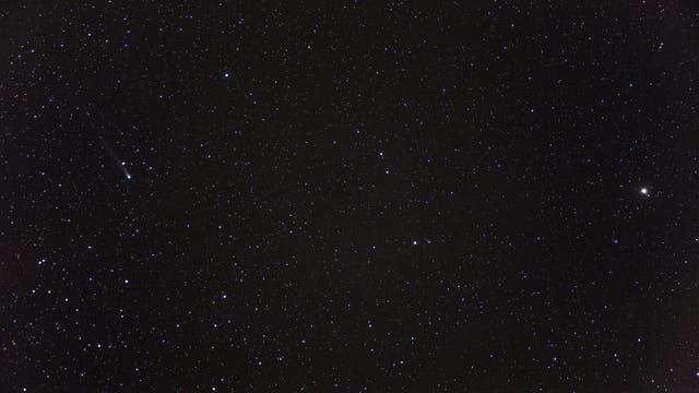 Komet C/2013 R1 Lovejoy und Sternbild Bootes