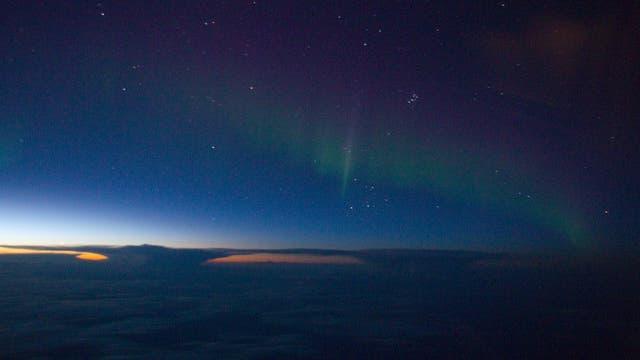 Polarlicht über Nordwest-Kanada