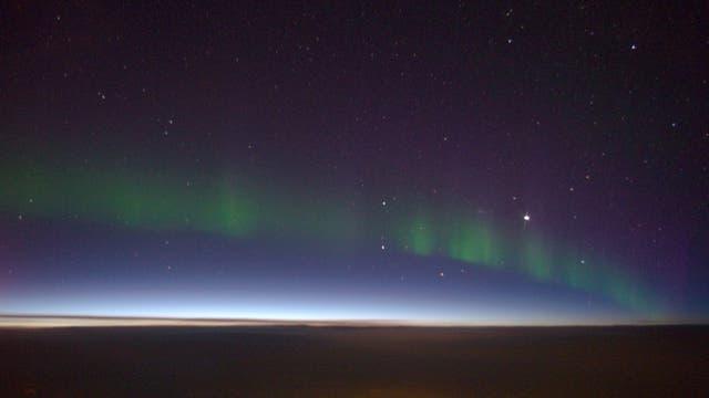 Polarlicht über West-Kanada