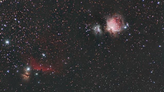 Großer Orionnebel und Pferdekopfnebel