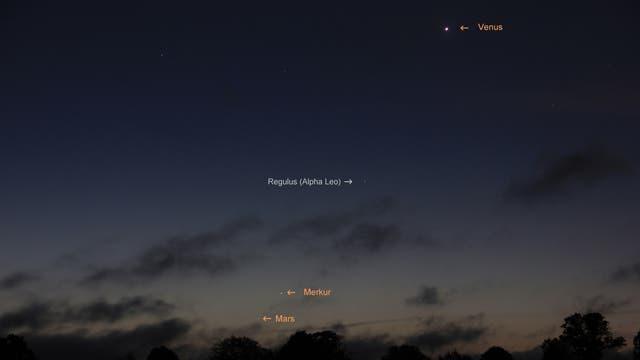 Planetenreigen mit Merkur am Morgen des 15. September 2017  über Uelzen (2)