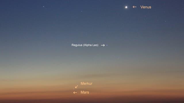 Planetenreigen mit Merkur am Morgen des 16. September 2017 (2))