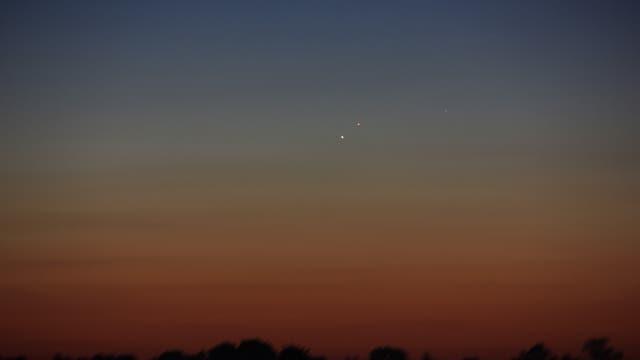 Merkur und Mars am Morgen des 17. September 2017