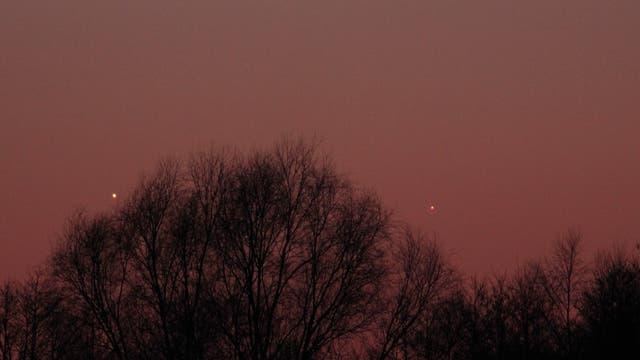 Venus und Merkur am Abend des 3. März 2018 über Uelzen