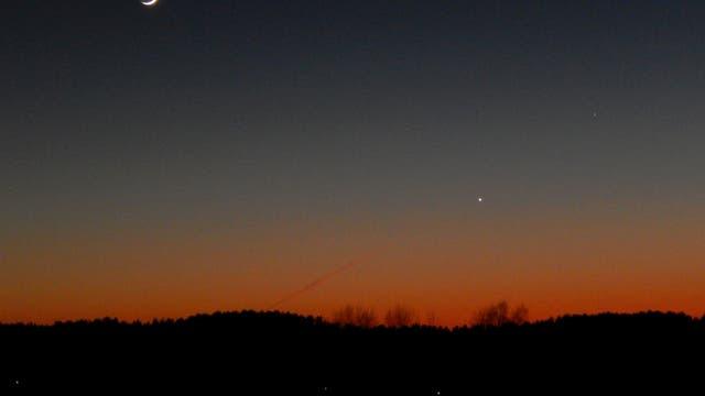 Mond, Venus und Merkur am 19.März 2018