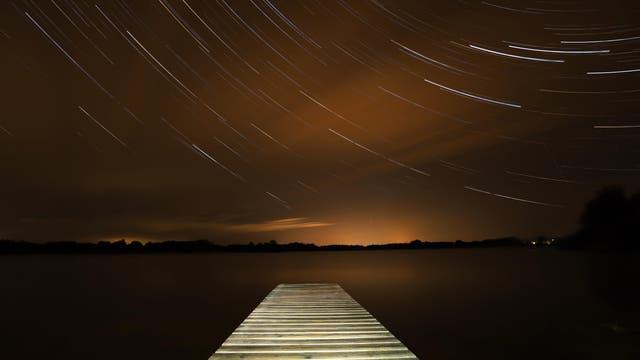 Startrails am Kleinen Ploener See