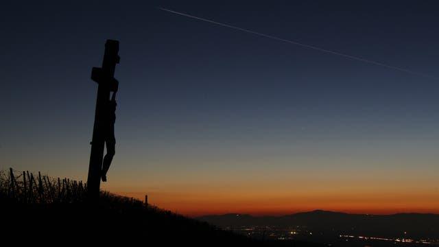 Merkur am Abendhimmel über dem Grand Ballon