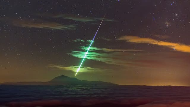Feuerball über Teneriffa