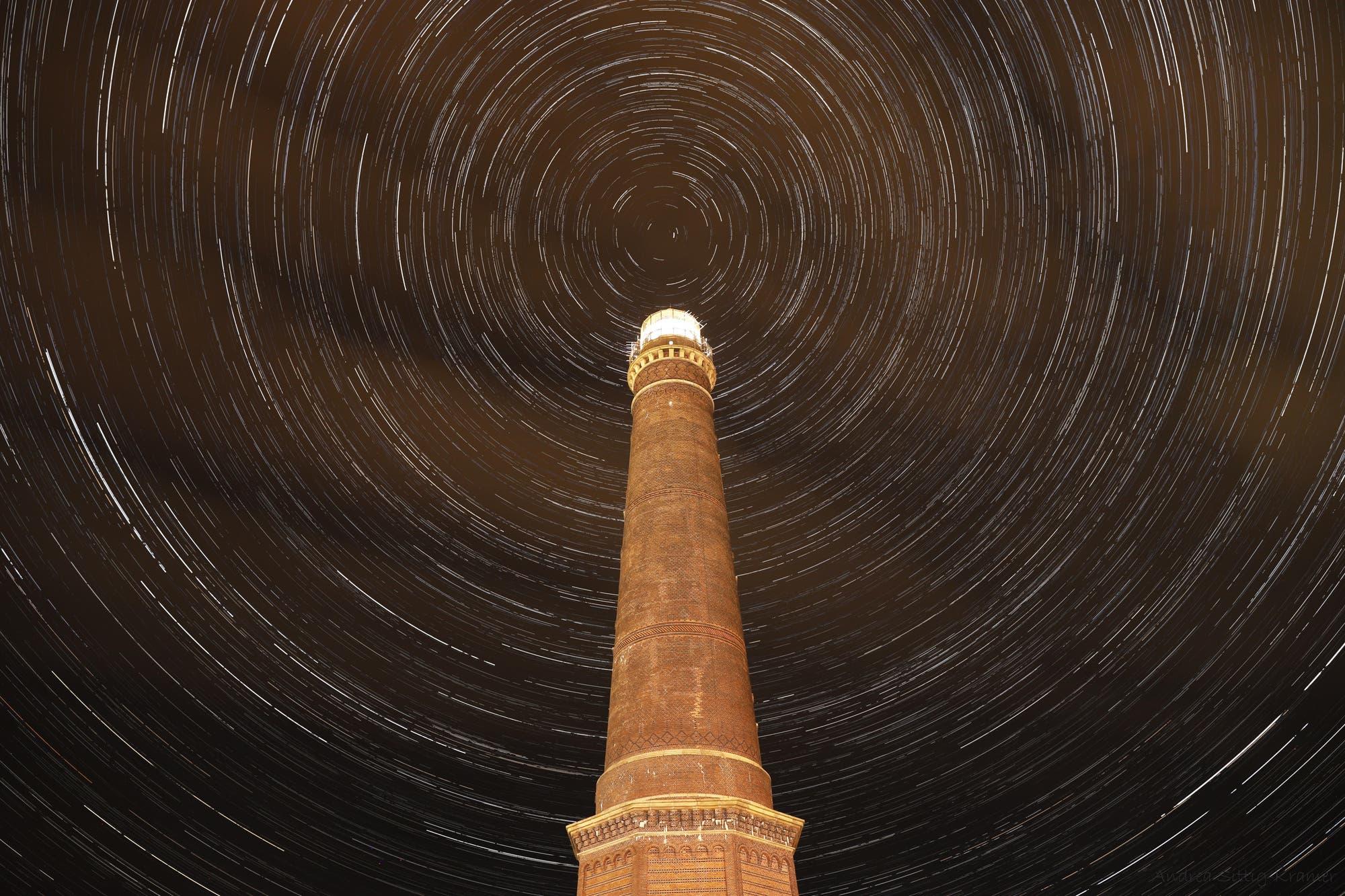 Startrails am Neuen Leuchtturm Borkum