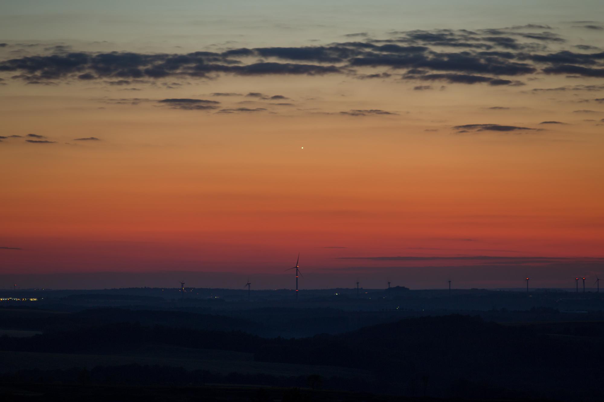 Venus wird Abendstern