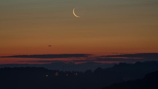 Mondsichel, 48 Stunden vor Neumond