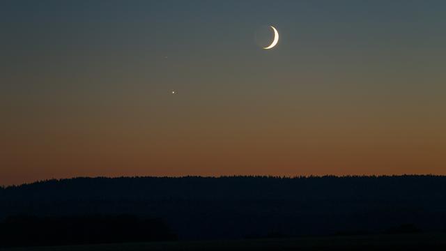 Mond, Venus und Delta Scorpii