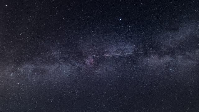 Streifschuss entlang der Milchstraße