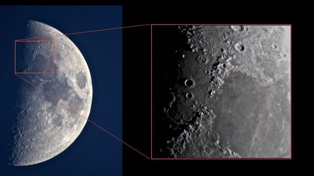 Mond am 24. März 2018
