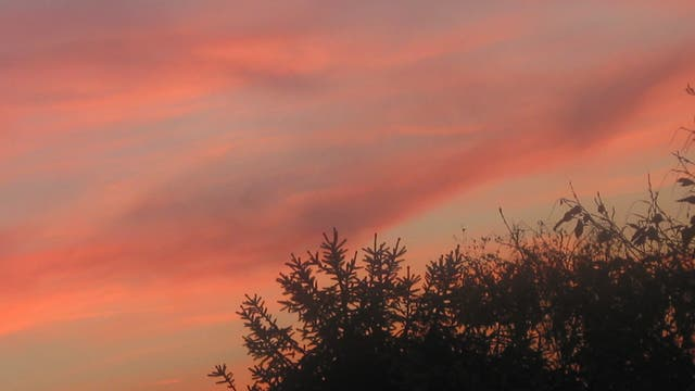 "Abendrot oder ""brennender Himmel"""