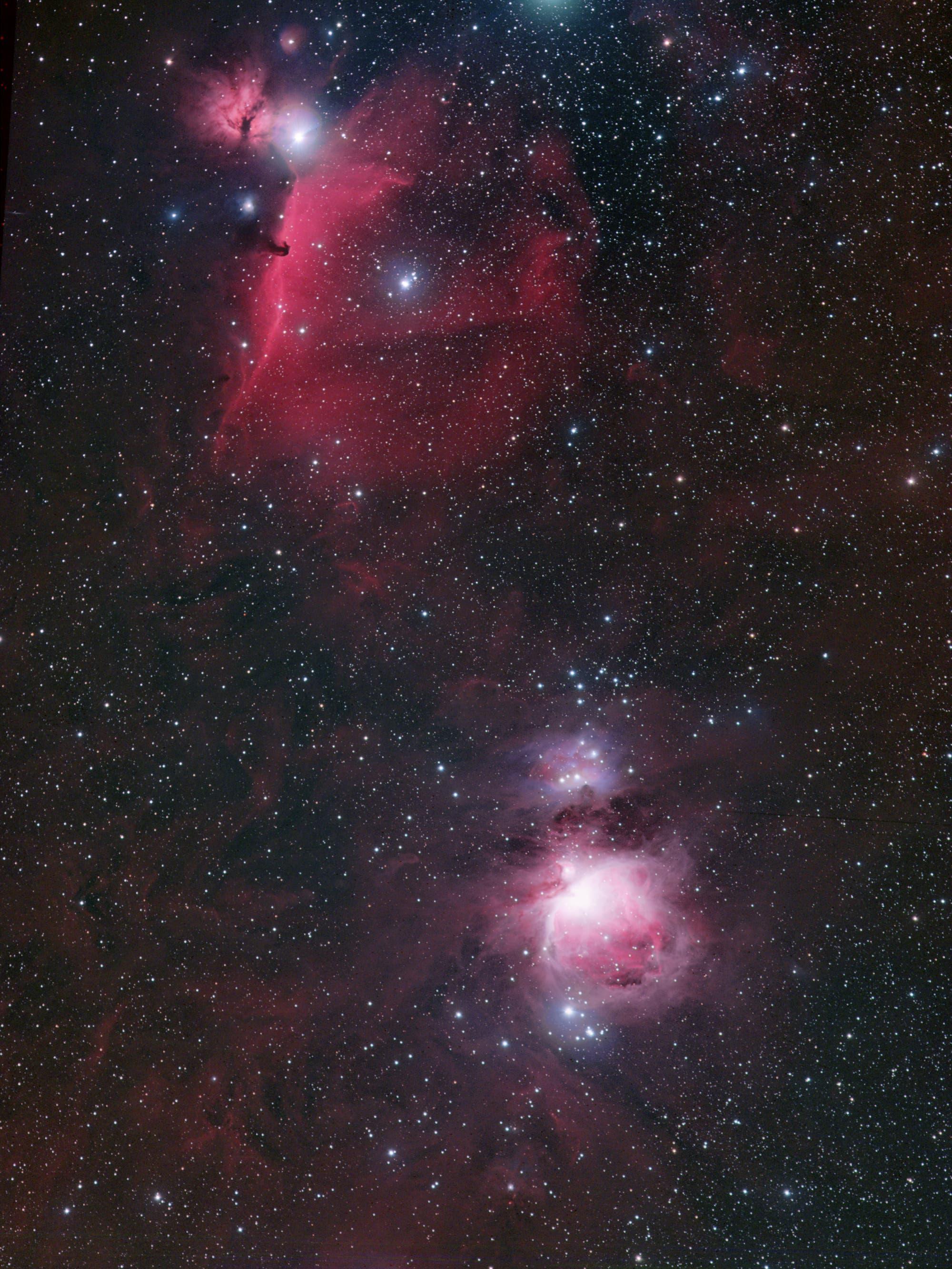 Vom Pferdekopf- zum Orionnebel