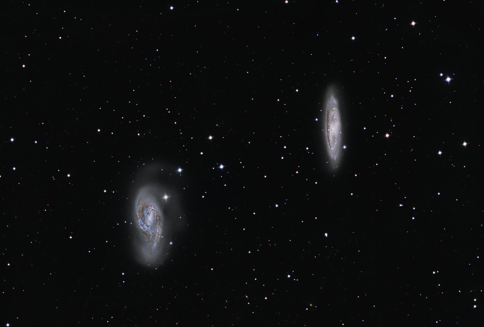 Messier 65, Messier 66– First Light Sternwarte Brentenriegel