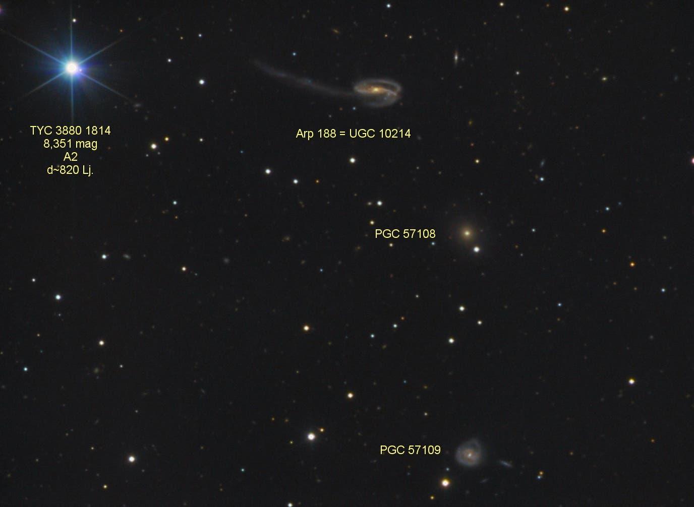 Arp 188 = UGC 10214 Tadpole Galaxy (Text)