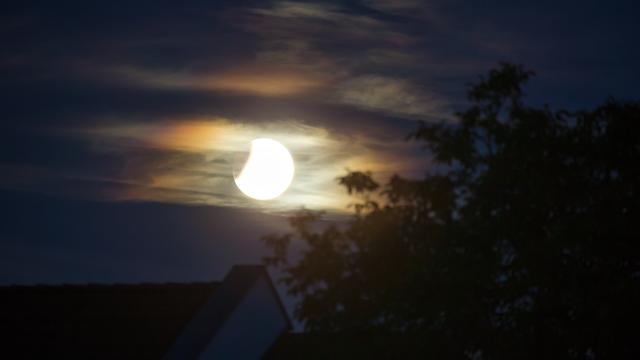 Colorful Lunar Eclipse
