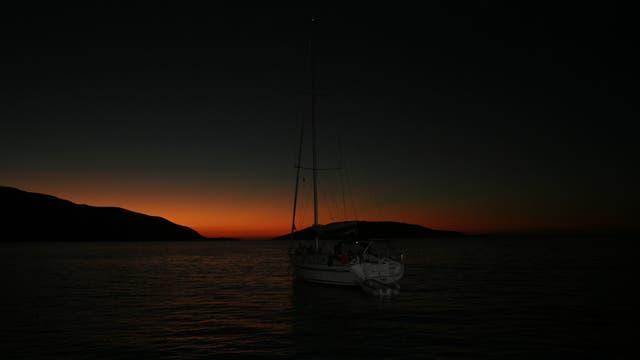 Abendstimmung mit Segelschiff