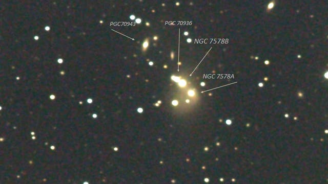 Arp 170  Hickson Compact Group 94  in Pegasus