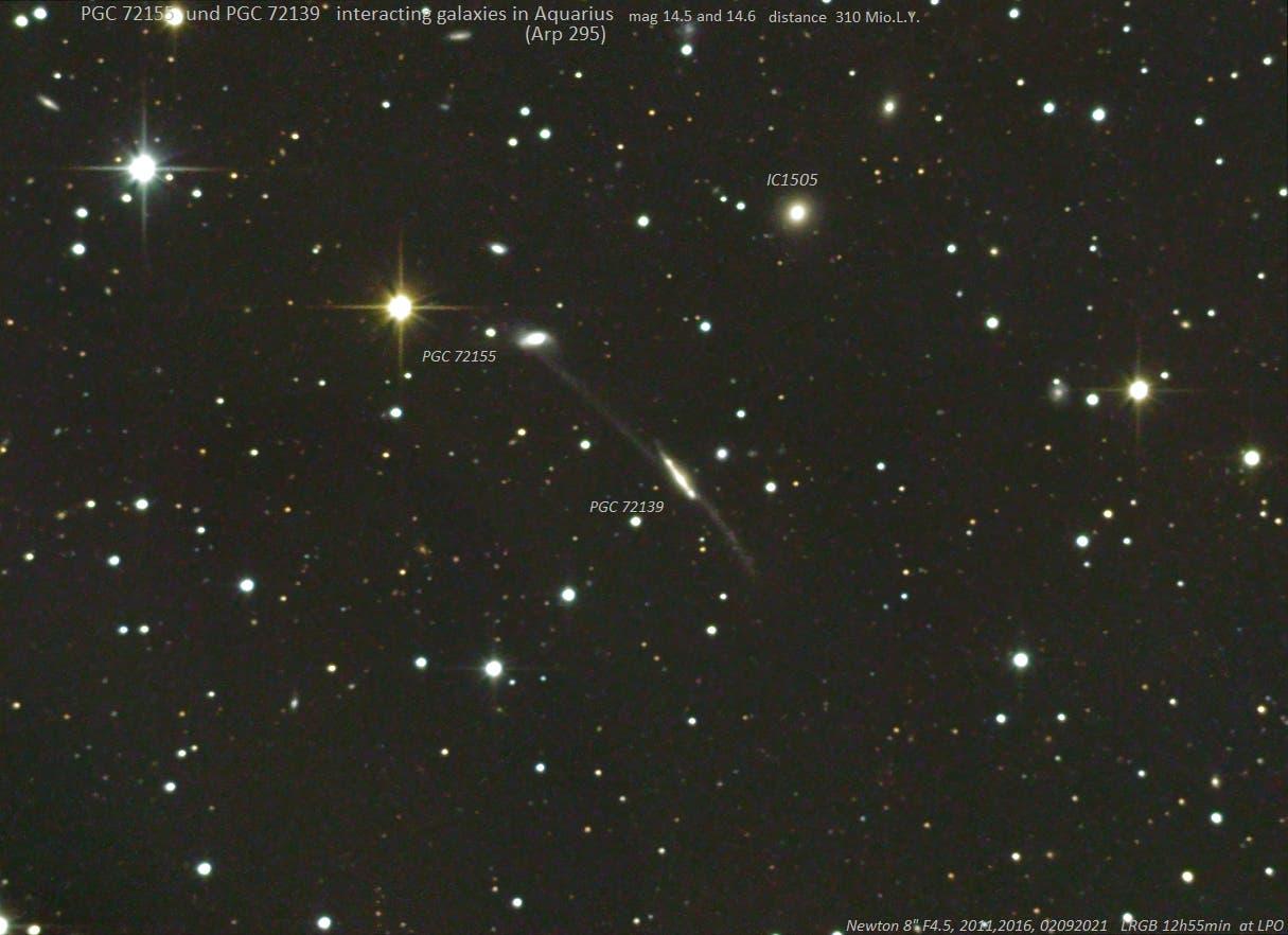 Arp 295 - wechselwirkende Galaxien im Sternbild Wassermann (2)