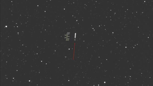 Barnards Stern in Ophiuchus 2021