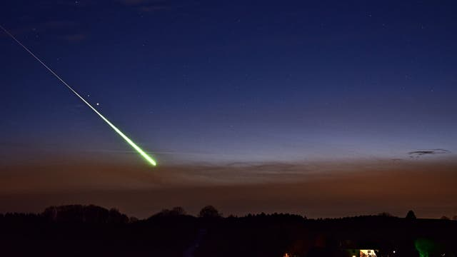 Feuerkugel aus dem Sternschnuppenstrom der Geminiden