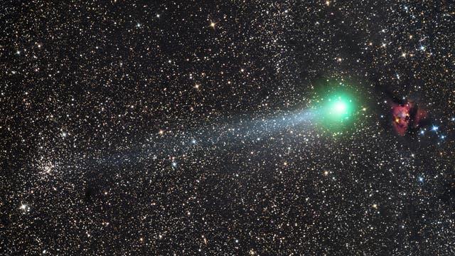 Komet C / 2014 Q2 (Lovejoy) zwischen NGC 559 und Sh2-187
