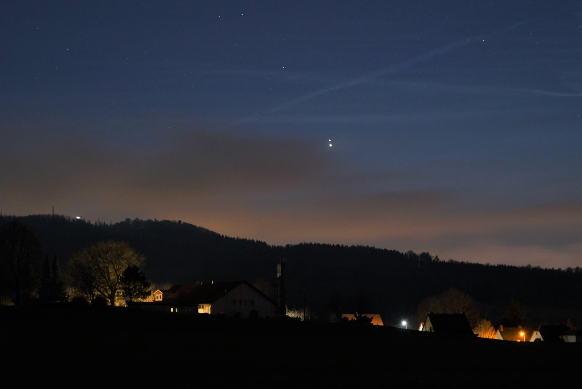 Jupiter/Saturn über Obercunnersdorf