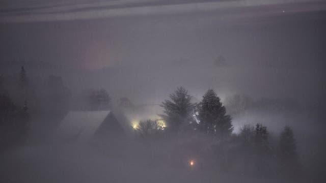 Merkur am winterlichen Abendhimmel