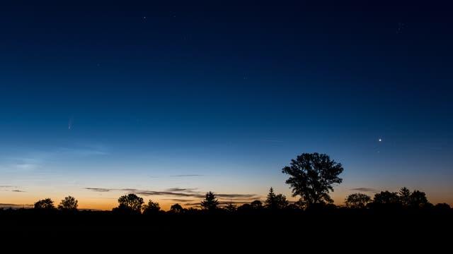 NEOWISE und Venus