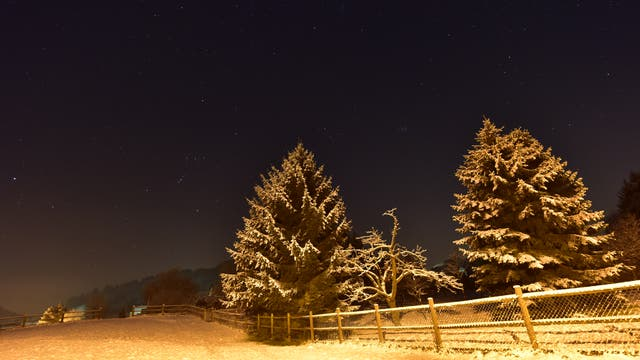 Winternacht mit Komet Lovejoy C/2014 Q2