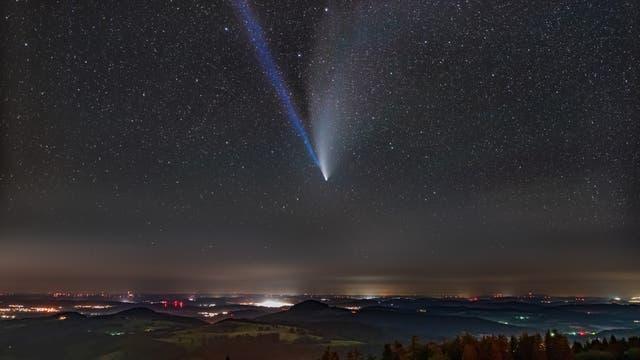 Komet Neowise über der Wasserkuppe