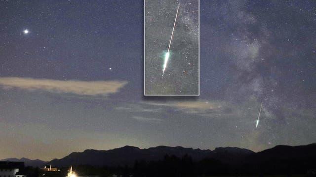 Explodierender Meteor