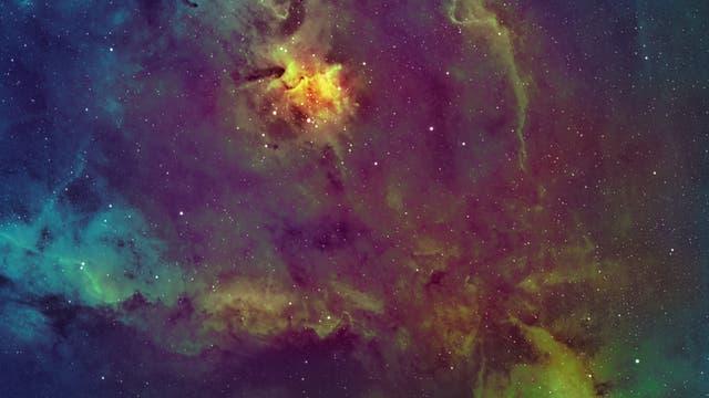 IC 1805 Hubble
