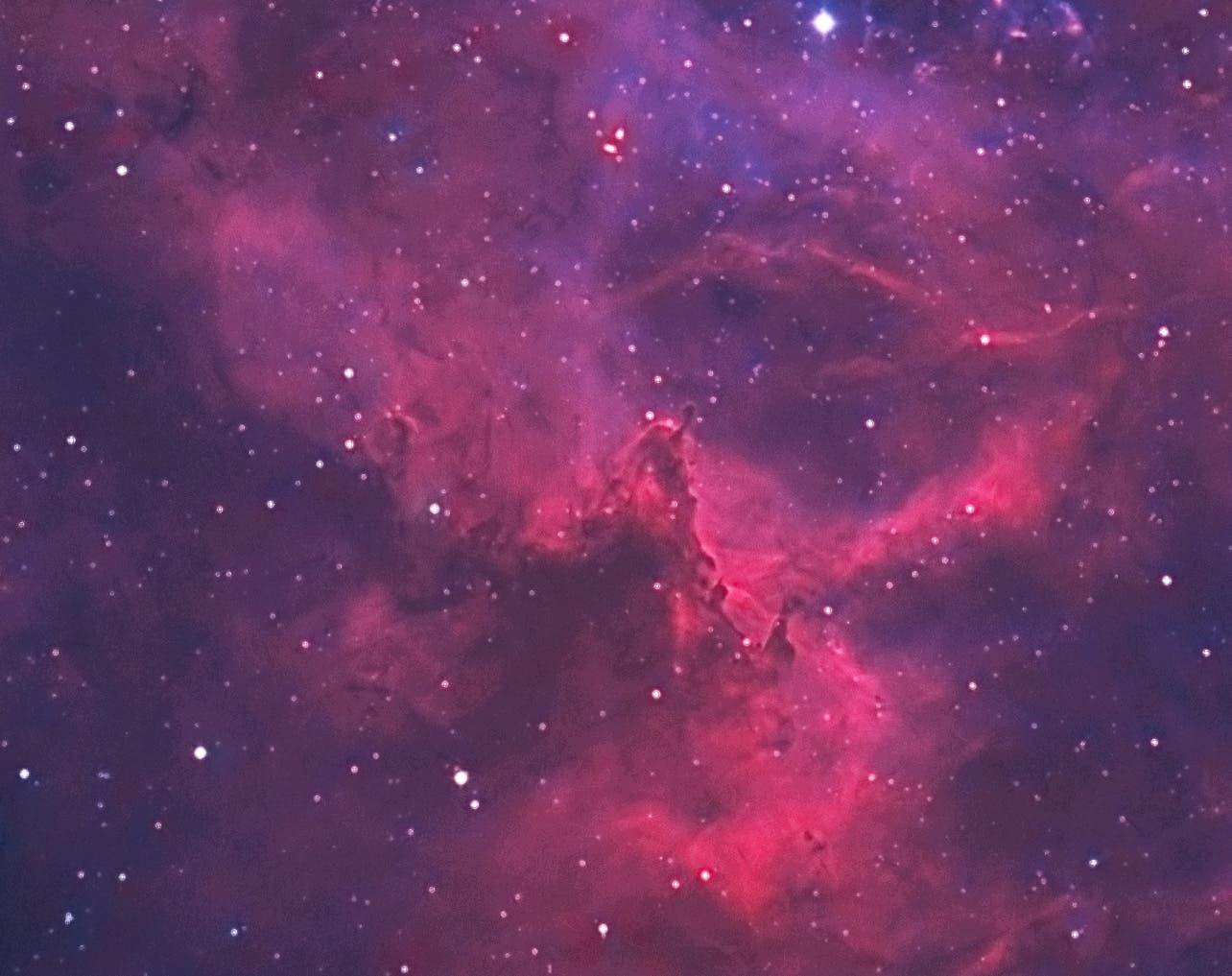 NGC 2244, Ausschnitt aus dem Rosettennebel