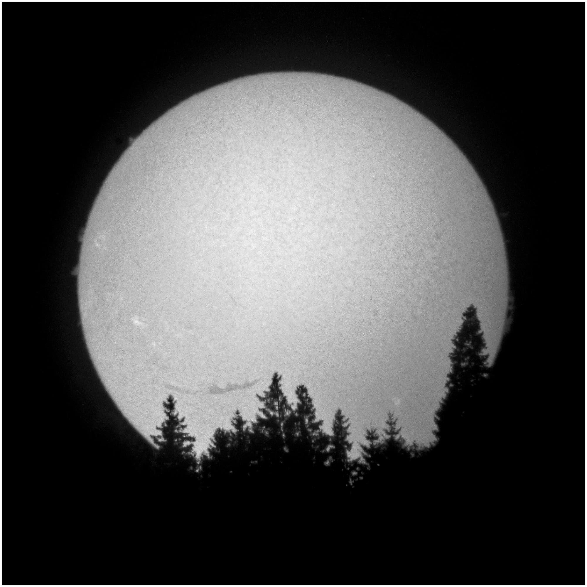 Großes Filament vor der Sonne am 10. August 2013