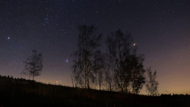 Objekte des Herbststernhimmels