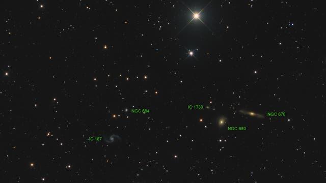 Arp 31 (IC 167) Objekte