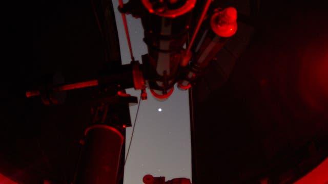 Blick zum Mars von der Sternwarte Remscheid