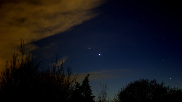 Jupiter und Saturn vor dem Finale am 21. Dezember 2020