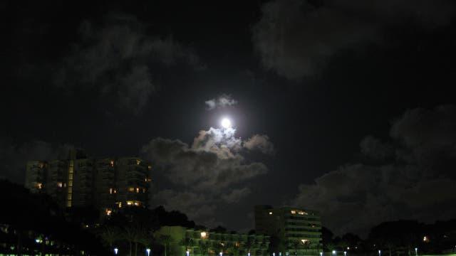 Jupiter bei Mond am 6.8.2009