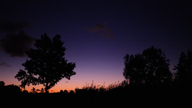 Merkur am frühen Herbstmorgen